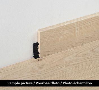 80mm Plint Charme Black B7516 2.4m - per 4 - 9.6m