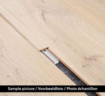 T-profiel Chestnut White B6201 2.4m - per stuk